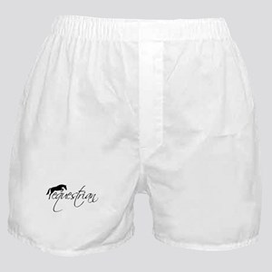 Equestrian w/ Jumping Horse Boxer Shorts