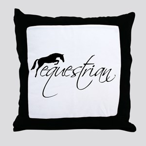 Equestrian w/ Jumping Horse Throw Pillow