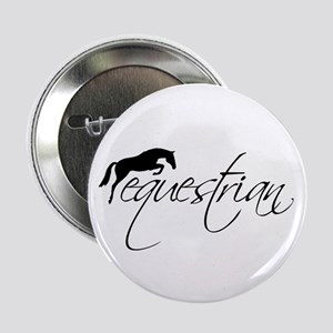 "Equestrian w/ Jumping Horse 2.25"" Button"