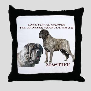 Mastiff Brindle Male Throw Pillow