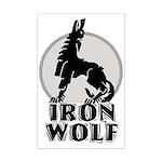 iron wolf Mini Poster Print