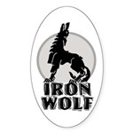 iron wolf Oval Sticker