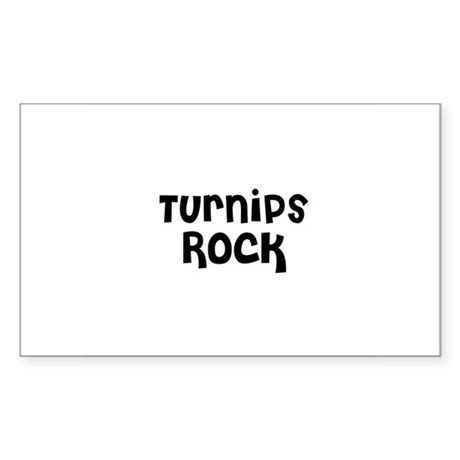 Turnips Rock Rectangle Sticker