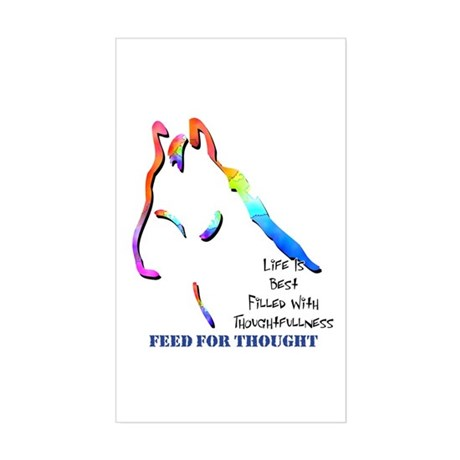 Feed For Thought Rectangle Sticker