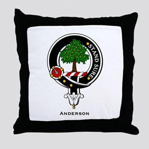 Anderson Clan Crest Badge Throw Pillow