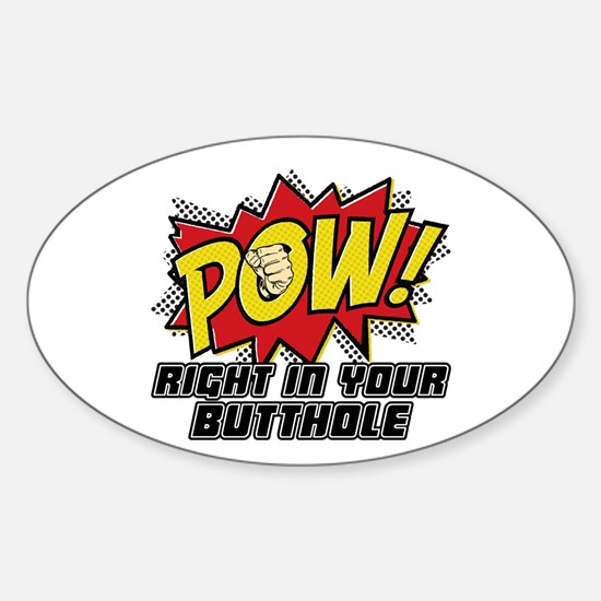 Pow! Sticker (Oval)