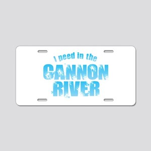 I Peed in the Cannon River Aluminum License Plate