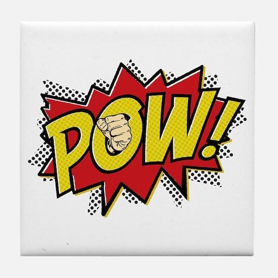 Pow! 2 Tile Coaster