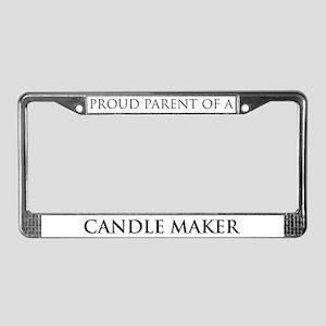 Proud Parent: Candle Maker License Plate Frame