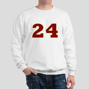 24 Burgundy/Gold Sweatshirt