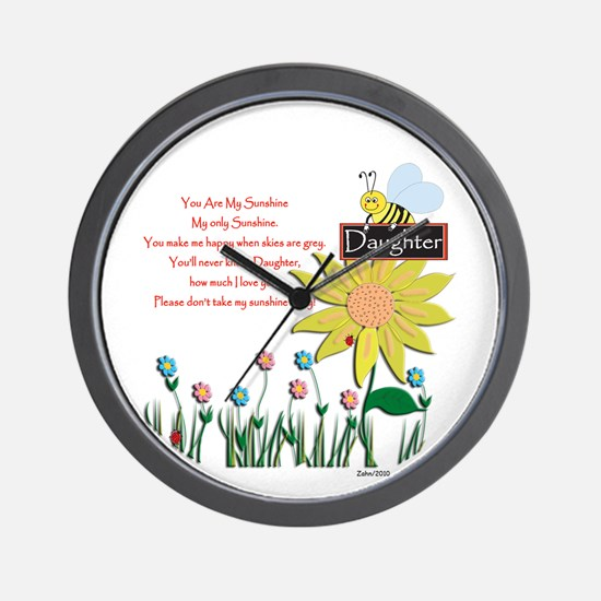 You Are My Sunshine Daughter Wall Clock