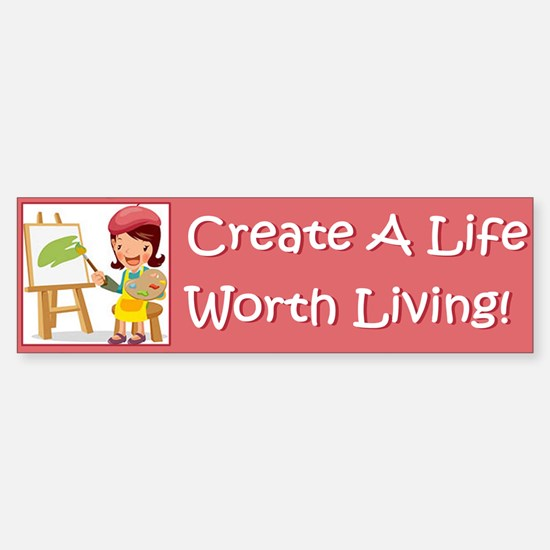 5-worth_living_bumper Bumper Bumper Bumper Sticker