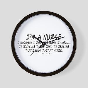 Nurse Hell Wall Clock