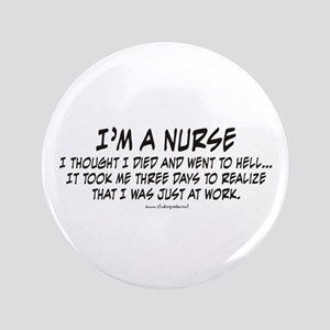 "Nurse Hell 3.5"" Button"