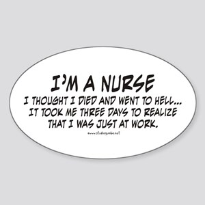 Nurse Hell Sticker (Oval)