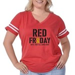 Red Friday Women's Plus Size Football T-Shirt