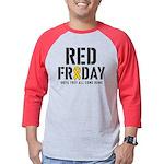 Red Friday Mens Baseball Tee