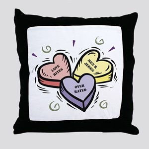 Customizable Candy Hearts Throw Pillow
