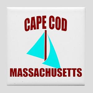 Cape Cod Massachusetts Sail Tile Coaster