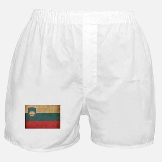 Vintage Slovenia Flag Boxer Shorts