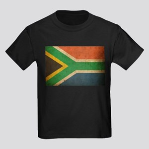 Vintage South Africa Flag Kids Dark T-Shirt