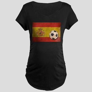 Vintage Spain Football Maternity Dark T-Shirt