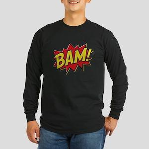 Bam! Long Sleeve Dark T-Shirt