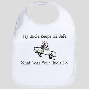 My Uncle Keeps Us Safe Bib