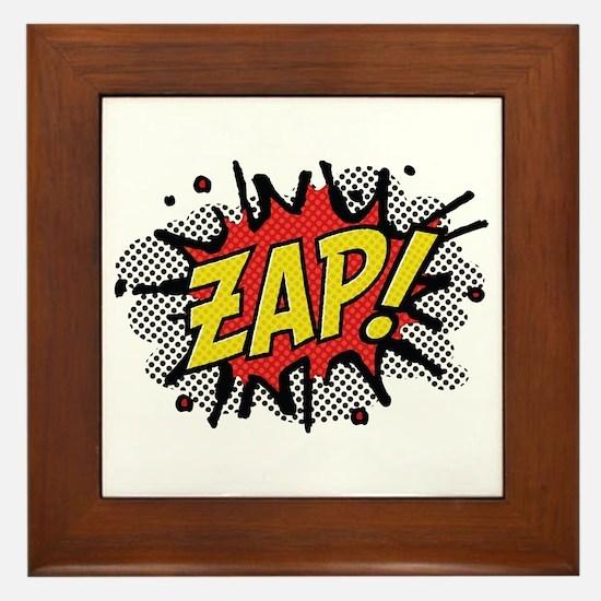 Zap! Framed Tile