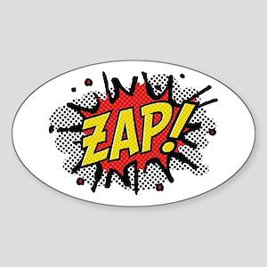 Zap! Sticker (Oval)