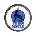 iron wolf Wall Clock