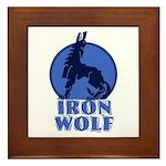 iron wolf Framed Tile