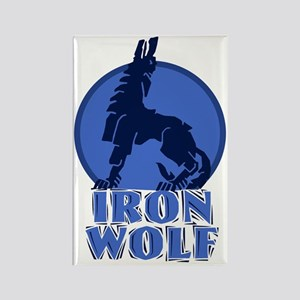 iron wolf Rectangle Magnet