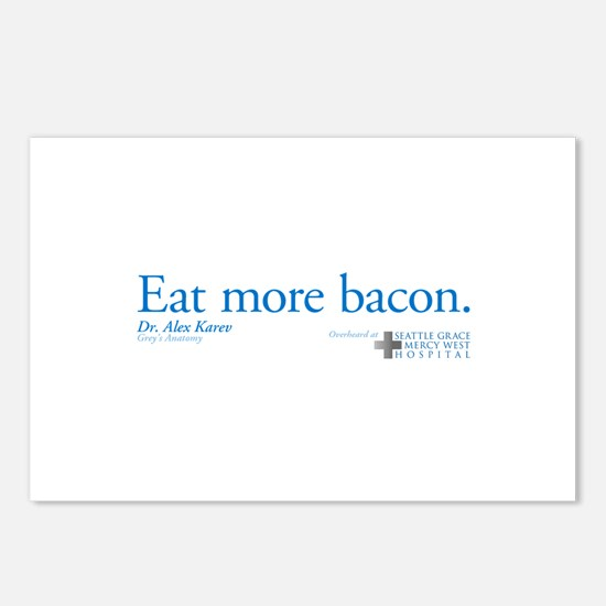 Eat More Bacon Postcards (Package of 8)