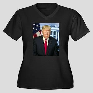 Official Pre Women's Plus Size V-Neck Dark T-Shirt