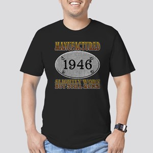 Manufactured 1946 Men's Fitted T-Shirt (dark)