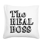 The Real Boss (2) Square Canvas Pillow