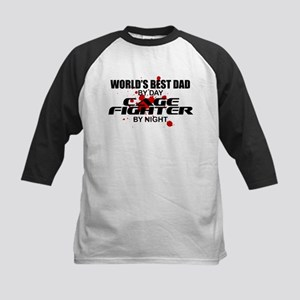World's Best Dad - Cage Fighter Kids Baseball Jers