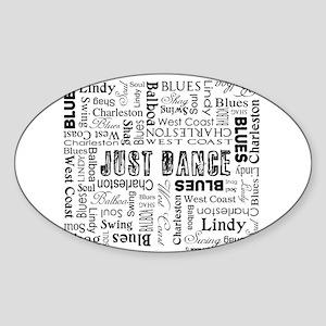Just Dance Sticker (Oval)