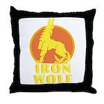 iron wolf Throw Pillow