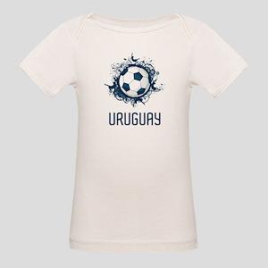 Uruguay Football Organic Baby T-Shirt