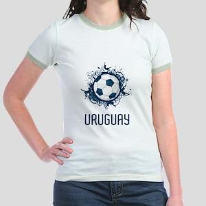 Uruguay Football Jr. Ringer T-Shirt