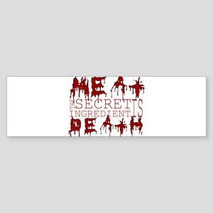 Meat: The secret ingredient i Sticker (Bumper)