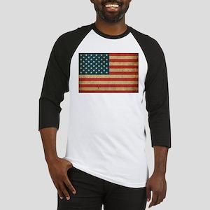 Vintage America Flag Baseball Jersey