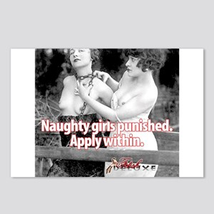 Naughty Girls Punished Postcards (Package of 8)