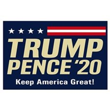 Trump Pence 2020 Large Poster