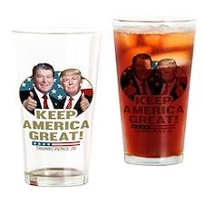 Trump Reagan Keep America Great! Drinking Glass