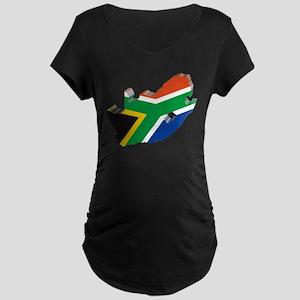 3D South Africa Flag Maternity Dark T-Shirt