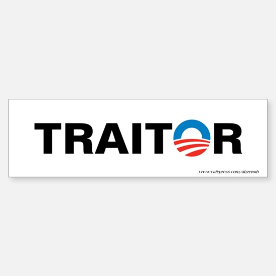 Obama - Traitor, Sticker (Bumper)