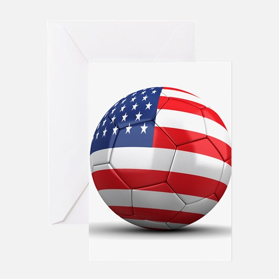 USA Soccer Ball Greeting Card